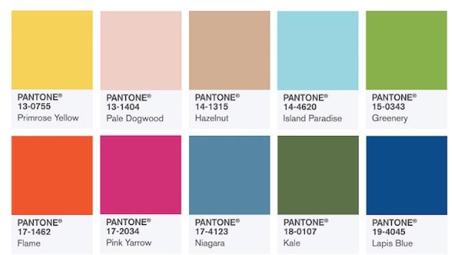 Colores de moda para esta temporada SS17 (diseños de esta temporada)