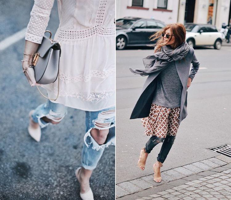 llevar vestido y pantalón