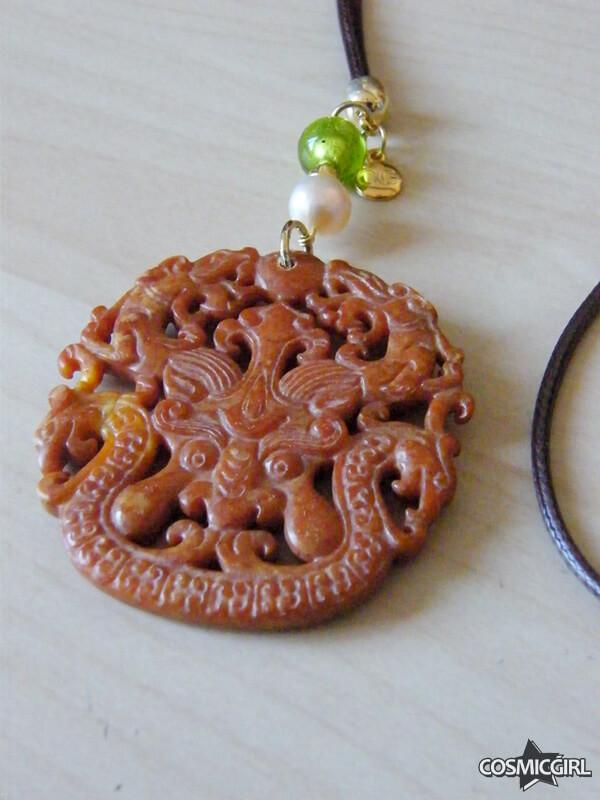 Collar Roma Jade bisutería artesanal detalle