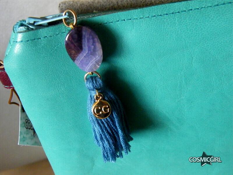Bolso Turquo detalle bolso artesanal en piel