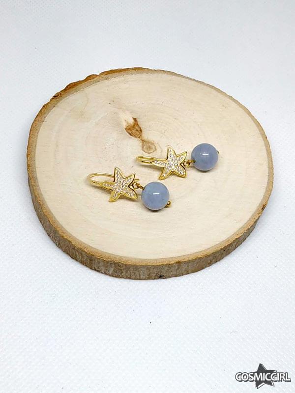 Pendientes Plaes baño de oro joyería artesana