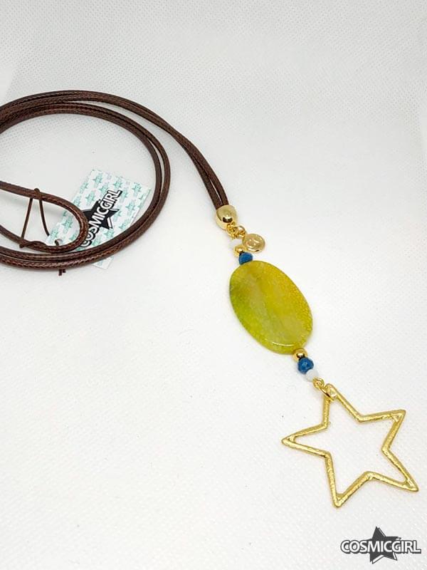 Collar Agaes bisutería artesanal ágata amarilla