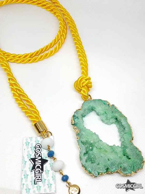 Collar Geoda bisutería artesanal