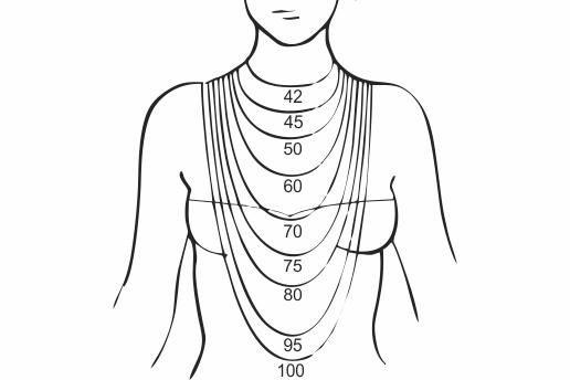 Medidas de collares joyería artesanal